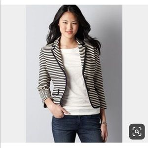 Loft size 6p navy and beige stripe blazer